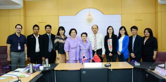เจรจาความร่วมมือทางวิชาการและวัฒนธรรมกับมหาวิทยาลัยในประเทศจีน